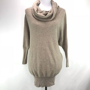 Anthropologie Ruby Moon Cowl Neck Brown Sweater S